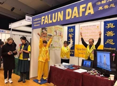 Фалуньгун, Дания, выставка здоровья,