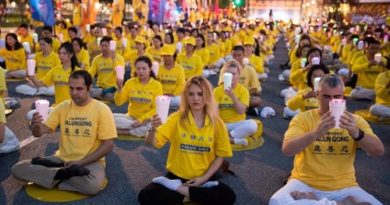 Митинг в Нью-Йорке, Фалуньгун, 20 июля,