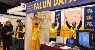 Фалуньгун в Дании, выставка здоровья,
