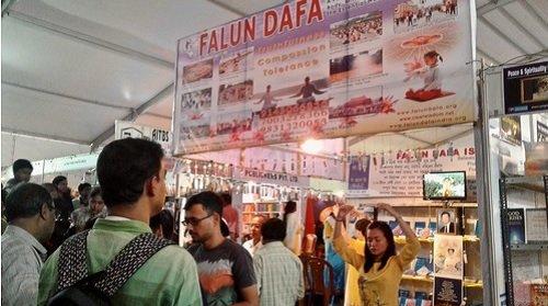 Фалуньгун, Индия, книги,, выставка