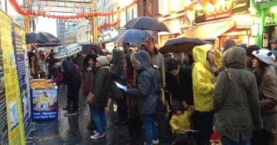 В китайском квартале Лондона можно узнать правду о Фалуньгун